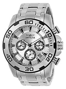 Invicta 22317 Pro Diver - Scuba Reloj para Hombre acero inoxidable Cuarzo Esfera plata: Amazon.es: Relojes
