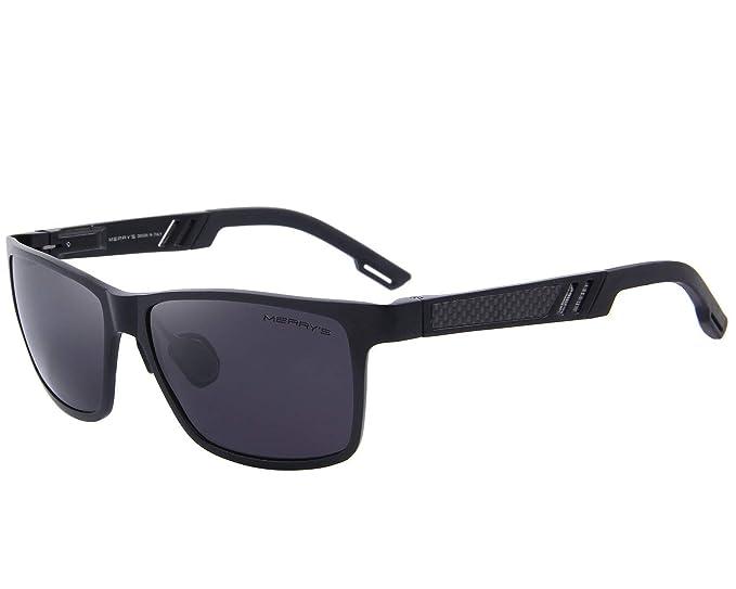76cd0f11f0c MERRY S 2016 Hot Retro Aluminum Frame Driving Polarized Sunglasses For Men  Women S8571 (Black
