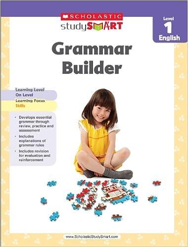 Scholastic Study Smart Grammar Builder Grade 1: Scholastic ...