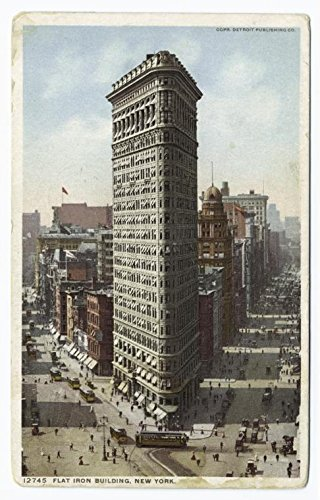 (Historic Pictoric Print | Flatiron Building, New York, 1913 | Vintage Wall Art | 30in x 44in)