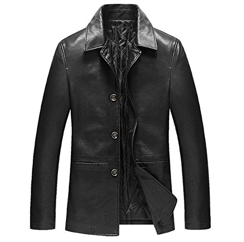 Black Leather Trench Coats - 4