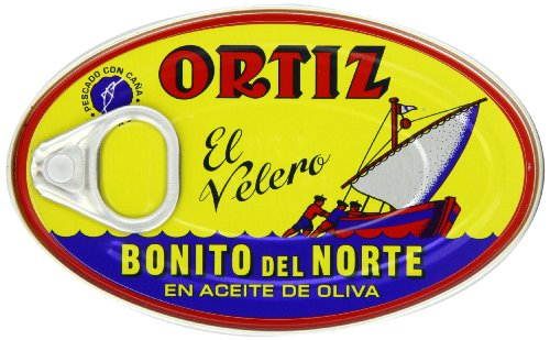 Price comparison product image Ortiz Bonito Del Norte - White Tuna in Olive Oil,  3.95-Ounce Tins (Pack of 4)