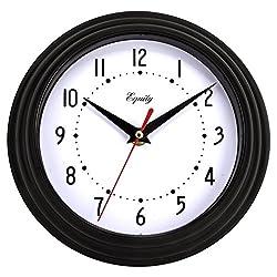 Equity by La Crosse 25013 8 Inch Black Clock