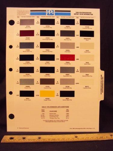 1990 90 VOLKSWAGEN / VW & AUDI IMPORT Paint Colors Chip Page