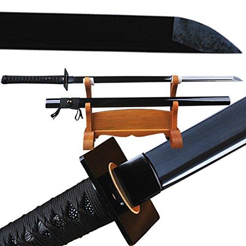 Shijian Japanese Samurai Katana Sword - Black Blade (Blade Sword)