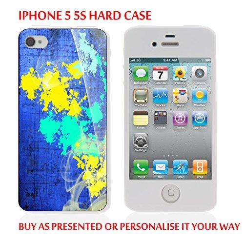 Gc27_iph55s iPhone 5 5S Coque Housse pour Tablette Bleu, Jaune texture personnaliser votre texte personnalisé produits fabriqués et vendus Par ThatVinylPlace