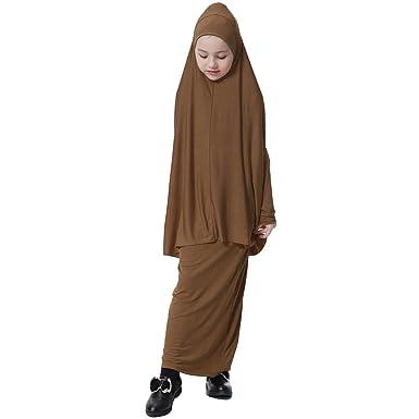 f0a190a1c726 MagiDeal Muslim Mädchen Abaya Maxi Kleid: Amazon.de: Bekleidung