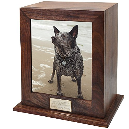 wood urn for dog ashes - 1