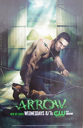 ARROW CW Series : Oliver Queen, Stephen Amell Sexy, Shirtless; Great Original Photo Print Ad! Layout #3
