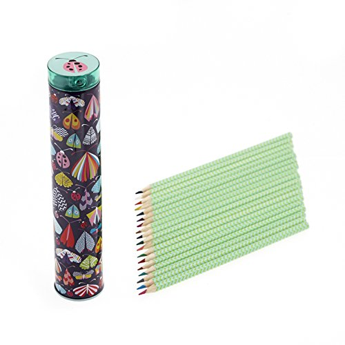 Lady Bug Butterfly Colour Pencil Set with Sharpener in Tin ()