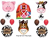 Barn Farm Animals Birthday Party Cow Horse Pig Balloons Decorations Supplies