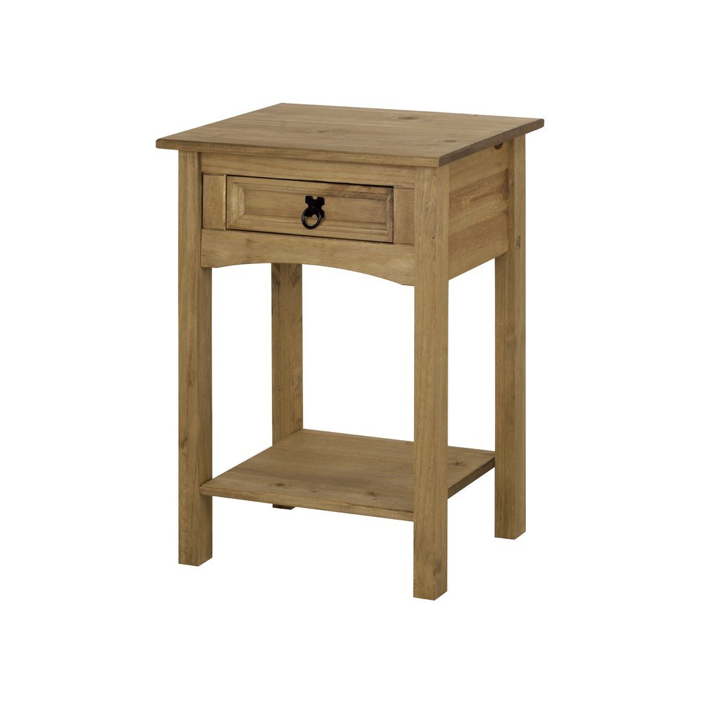 Mexican Pine Living Room Furniture Corona 1 Drawer Console Table Distressed Mexican Pine Amazonco