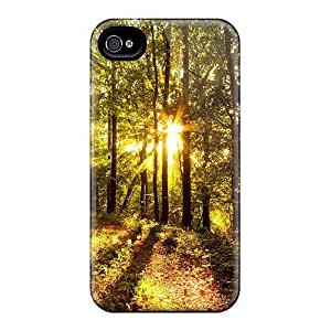 Hot Fashion RguQCUl2907DIsVc Design Case Cover For Iphone 4/4s Protective Case (forest)
