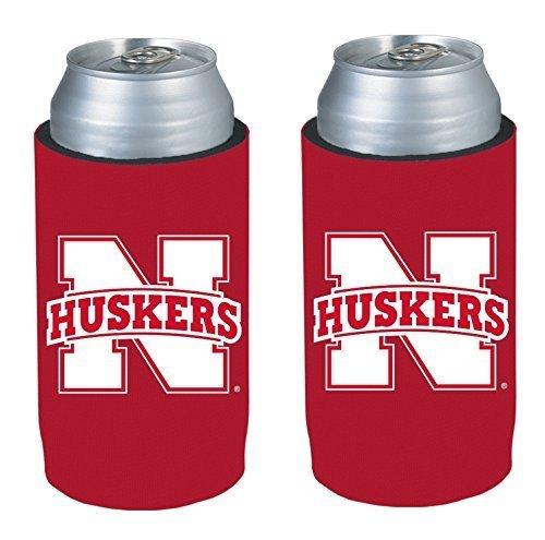 (NCAA 2013 College Ultra Slim Beer Can Holder Koozie 2-Pack (Nebraska Huskers))