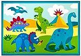 Wildkin Olive Kids Dinosaur Land 5x7 Rug