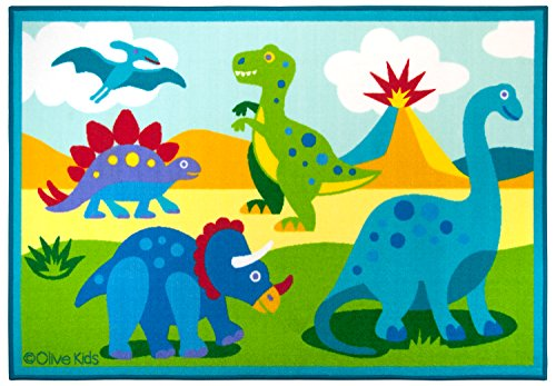 Tv Land Characters Costumes (Olive Kids Dinosaur Land 5x7 Rug)