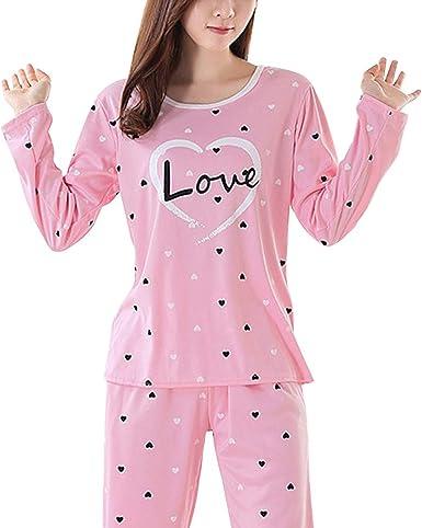 Conjunto de pijamas de manga larga de dibujos animados ...
