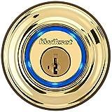 最新の施錠テクノロジー★925 Kevo Single Cylinder Bluetooth デッドボルト(iPhone 4S,5, 5C&5S) Kwikset社 Lifetime Polished Brass【並行輸入】