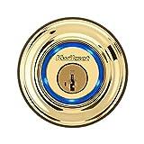 Kwikset Kevo (1st Gen) Touch-to-Open Bluetooth Smart Lock in Polished Brass