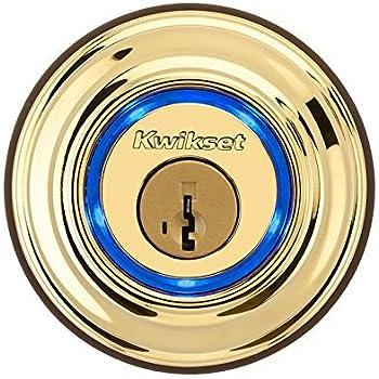 Kwikset Kevo (1st Gen) Touch-to-Open Bluetooth Smart Lock, Works with Amazon Alexa via Kevo Plus, in Polished Brass