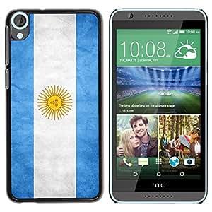 NAVY*COLLECTION Bandera Nacional Foto Funda Dura Negra Bordes caso de cáscara manga de la cubierta Para HTC Desire 820 - Argentina - Argentina
