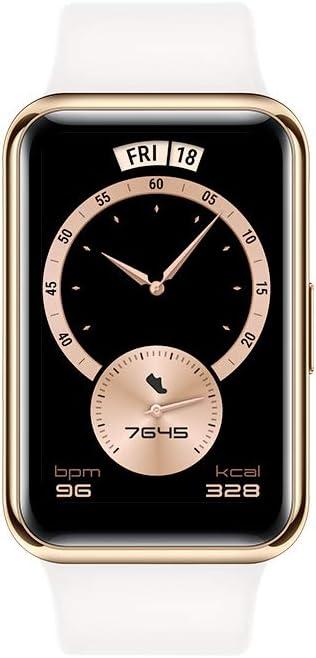 ساعة هواوي الرياضية ايليجنت، أبيض