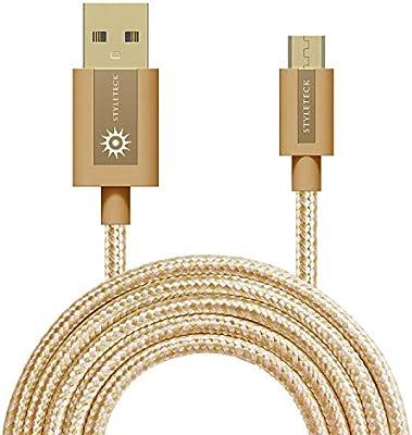 STYLETECK Cable Micro USB 30CM, Carga Rápida Trenzado Nylon, Cable ...