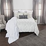 Rizzy Home Maddux Place Astrid Geometric 2 Piece Quilt Set, Twin X-Large, Grey