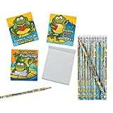 48 Piece ~ FROG Toad-ally Awesome Reading Stationery Set ~ 24 notepads / 24 pencils ~ New