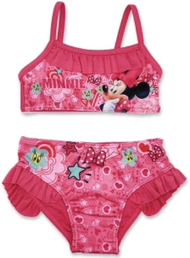 Minnie Mouse - Traje de Dos Piezas - para niña Rosa 128 cm/8 años ...