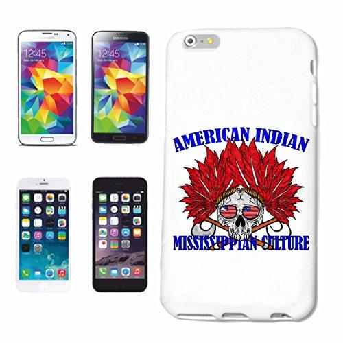 caja del teléfono iPhone 6S Jefe Roja Americana indio EE.UU. AMERICA MISSISSIPPI Índico occidental INDIOS Caso duro de la cubierta Teléfono Cubiertas cubierta para el Apple iPhone en blanco
