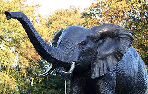 Bronzeskulptur Elefant