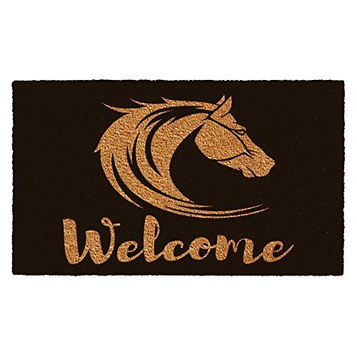 Home & More 102191729 Stallion Welcome Doormat Horse Door Mat
