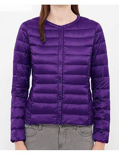 Inverno Slim Leggero Lunga Formati Modalità Rotonda Transizione Fit Violett Autunno Piumino Elegante Di Giacche Moda Del Breve Cappotto Collo Grandi Signore Adelina Casuale 1qgZnvU1