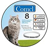 """Dog Flea Treatment Collar - Comcl Flea and Tick Prevention for Cats Collar - Water Resistant Hypoallergenic Flea Treatment Tick Control Collar for Cat - 25""""Adjustable 8 Months Protection"""