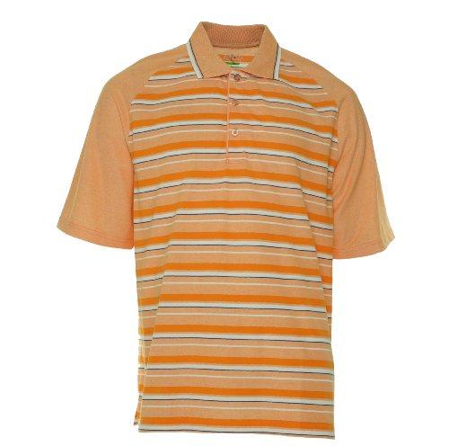 IZOD Golf Men's Slim Fit Polo Shirt Orange Peel XXL