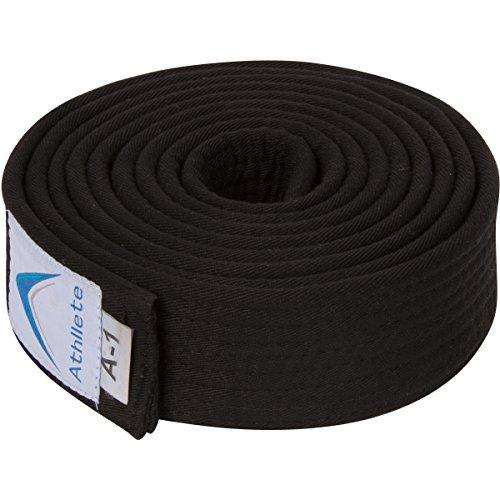 Athllete Jiu Jitsu Belts (Black, A4) ()