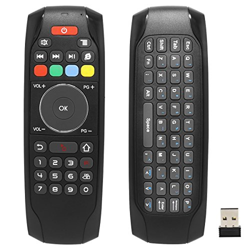 Smart Remote Replacement, BIFANS Fly Air Mouse Multifunctional Remote with Keyboard, Mini Wireless Keyboard & Remote Control for KODI Android Box HTPC IPTV PC Pad Xbox 360 (G7) by BIFANS