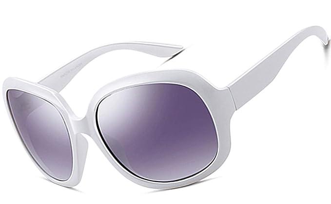 ATTCL Mujer vintage Oversized Gafas De Sol Polarizado Uv400 ...