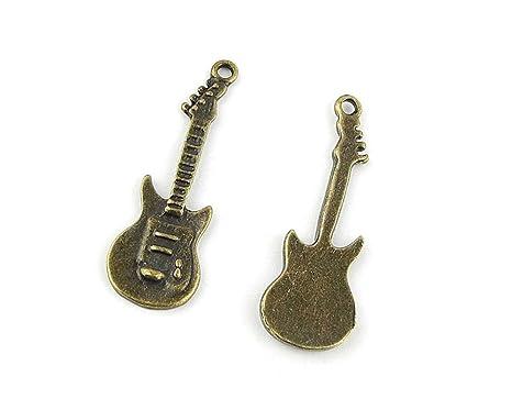 Joyería Making charms dn068 guitarra eléctrica antiguo bronce Retro ...