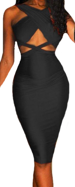 ASL Women Sexy Bandage Sleeveless Package Hip Hot Clubwear Dress