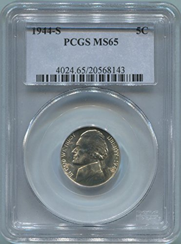 1944 S Jefferson Nickel Nickel MS65 PCGS