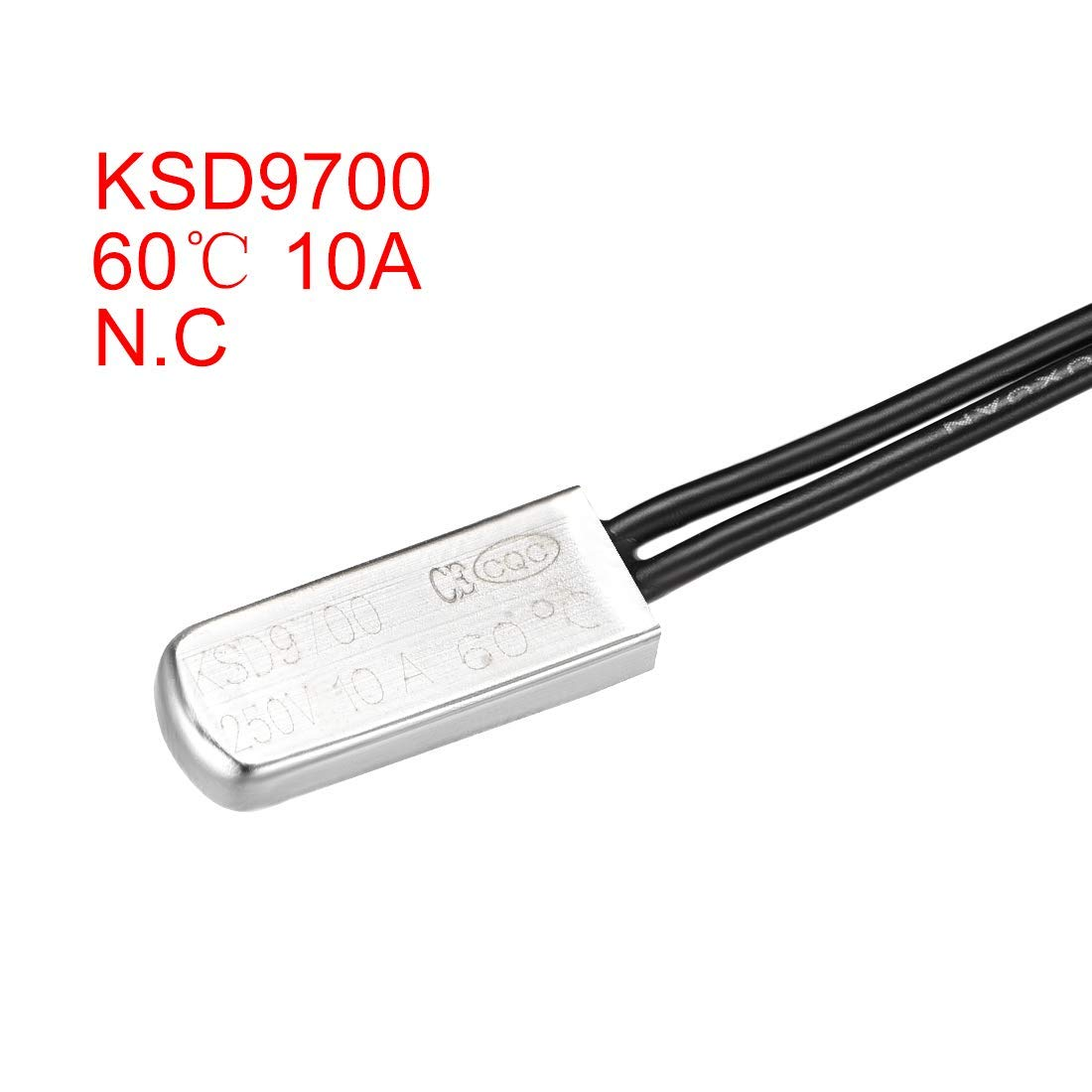 60 ℃ Normally Closed Temperature Switch Thermal Switch N.C 10A 2-Piece Metal bimetallic Temperature Controller KSD9700 Thermostat