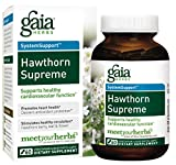 Gaia Herbs Hawthorn Supreme, Vegan Capsules, 60 Count - Promotes Heart Health and Stimulates Healthy Circulation, Whole Plant Extract of Organic Hawthorne Berry, Hawthorne Leaf, Hawthorne Flower