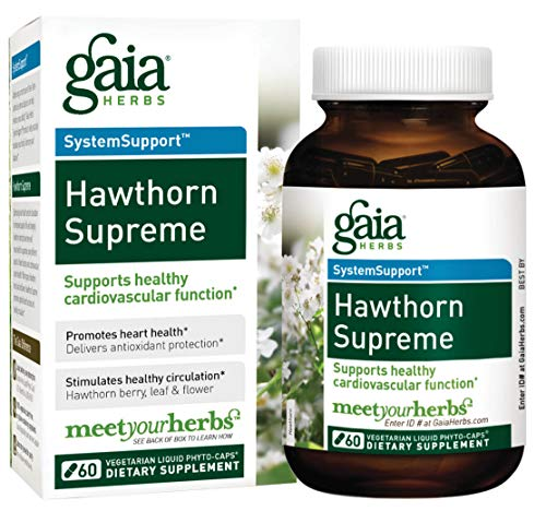 (Gaia Herbs Hawthorn Supreme, Vegan Capsules, 60 Count - Promotes Heart Health and Stimulates Healthy Circulation, Whole Plant Extract of Organic Hawthorne Berry, Hawthorne Leaf, Hawthorne)