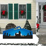 VictoryStore Yard Sign Outdoor Lawn Decorations, Christmas Nativity LARGE STAR Lawn Display Decoration - 4'x8'
