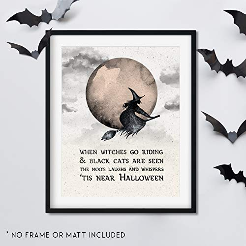 When Witches Go Riding - Vintage Halloween -