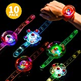 : Light Up Bracelet LED Party Favors 10 Pack Toys for Kids Girls/Boys Prizes Back to School Gifts Toys for Classroom Thanksgiving Christmas Birthday Celebration New Year Eve Party Neon Supplies