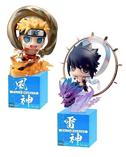Megahouse Naruto Shippuden Petit Chara Land Trading Figure 2-Pack Fujin & Raijin 5 cm -