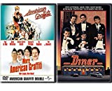 Fast American Diner Triple Feature ACADEMY AWARD movie Set Double 50's American Graffiti George Lucas + Barry Levinson Diner Classic Friends
